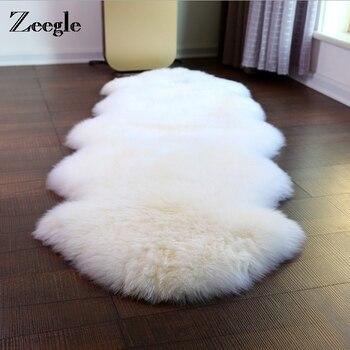 Zeegle alfombra Shaggu de lana de oveja Artificial para sala de estar, decoración de habitación de niño, silla, sofá, cubierta, alfombra para exteriores