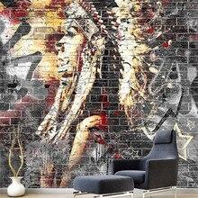 Стены обои гостиной Стены граффити Майя культура ресторан кафе-бар КТВ обои фрески обои 3D home decor