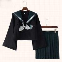 Harri Potter Gryffindor Uniform Sailor Dress Logo Slytherin Suit For School Cosplay Costumes Women Party Dress Set with Sock