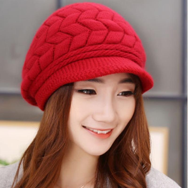 New 2016 Lady's Fashion Skullies Beanies  Korean Winter Drape Delicate Women Hat  Caps skullies