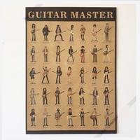 Гитара мастер Франк Zappa гитарный мир винтажный плакат на стену наклейки домашний декор из крафт-бумаги плакат 50,5 см x 35 см