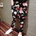 2017 повседневный стиль гарем брюки дети мальчиков одежда новая мода хлопок печати брюки для детей брюки