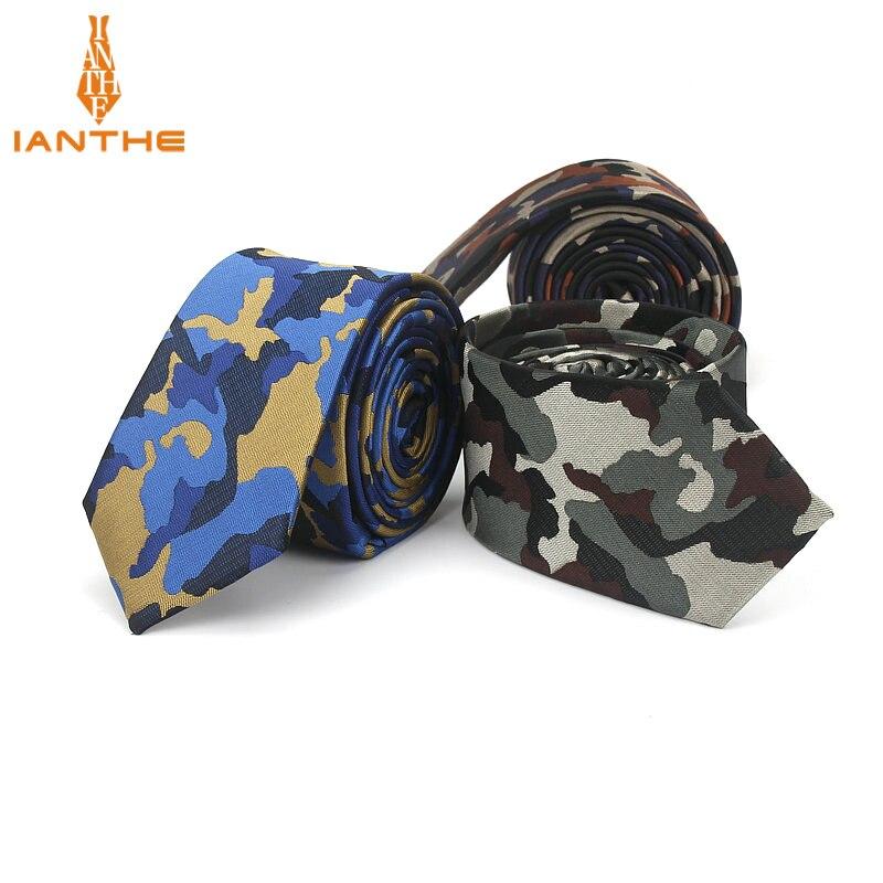 2018 Mens Dünne Krawatte Camouflage Muster Marke Krawatten 6 Cm Krawatten Mode Dünne Krawatte Für Männer Hochzeit Party Gravates Krawatten 100% Garantie
