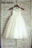 Lace White Pageant Dresses For Little Girls Bridesmaid Dresses Kids Evening Gowns Vestidos De Primera Communion 2015 Flower Girl