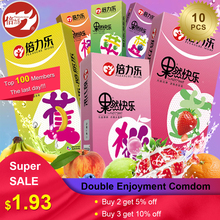 Beilile 10PCs Fruit Flavor Condoms For Men Strawberry Blueberry Taste Penis Sleeves Sex Set Ultra Thin Condom Adults