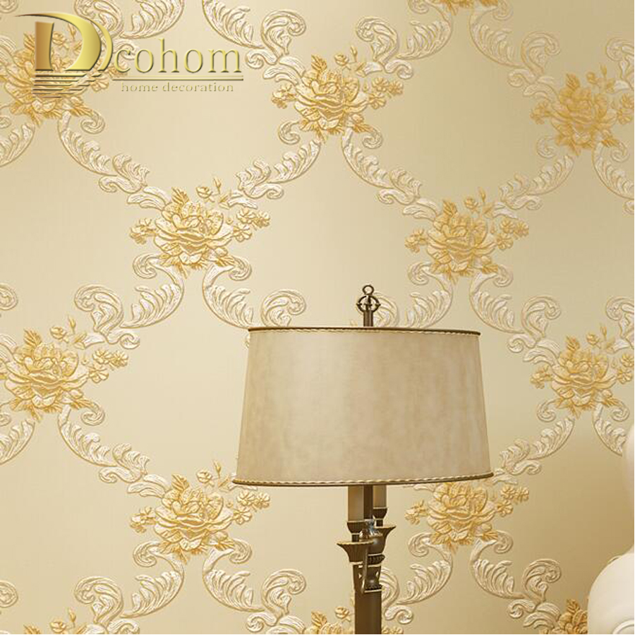 Προϊόν - European Pastoral Damask Floral Wallpaper For Walls Bedroom ...