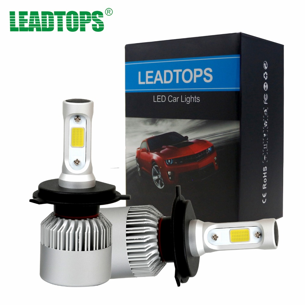 LEADTOPS H11 LED H7 H1 H4 9003 Car Headlight Bulb H3 LED 9004 9005 Beam Auto External Lights Car-styling 72W 6500k White 12v EB leadtops led h4 h7 h11 h1 h13 h3 9004 9005 9006 9007 cob led car headlight bulb hi lo beam 72w 8000lm 6500k auto headlamp 12v dj