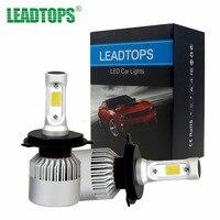 LEADTOPS H7 H4 LED Car Headlight Bulb Hi Lo Beam 72W 8000LM 6500K 9005 H11 880