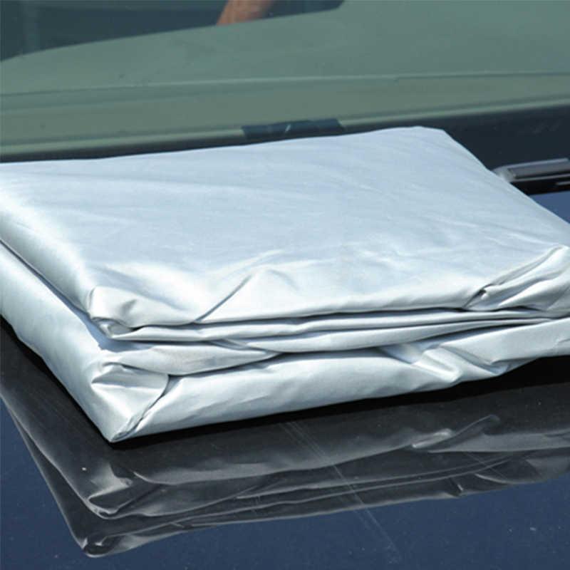 Pokrowiec na samochód s osłona przeciwsłoneczna wodoodporna osłona na samochód pokrowiec na samochód do SUV Sedan UV dowód pokrywa ochronna do użytku na zewnątrz pełna ochrona urządzenia do samochodu Auto akcesoria