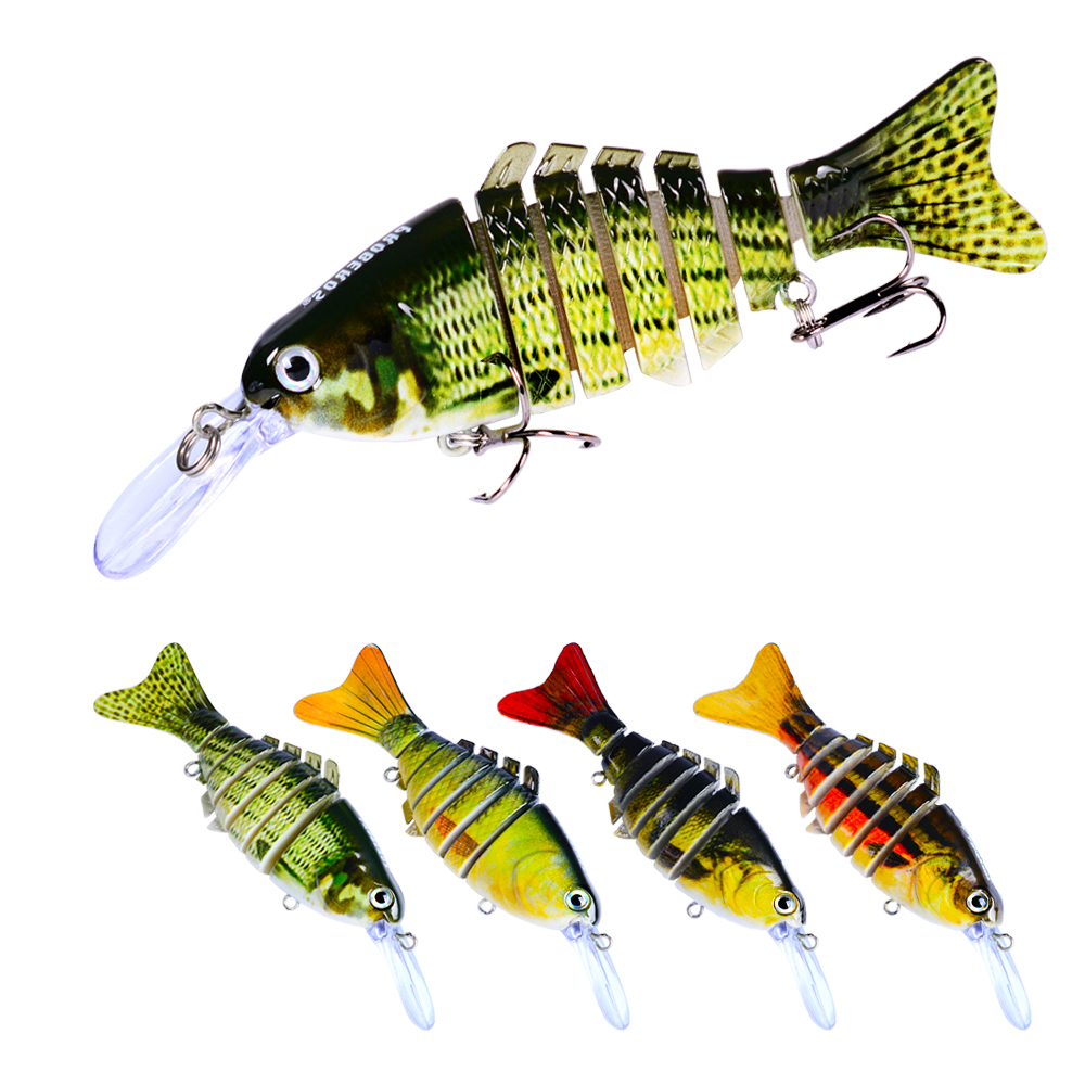 Swimming Bait 11.2cm 14g Retail 7 Sections Fishing Lure Life-like Multi-Articulated Wobbler Minnow Baits Fishing Lures Tackle