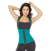 Unisex Neoprene GYM Ultra Sweats Sports Waist Cincher Slimming Running Fajas Body Shapers Zip Up Ultra