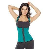 Unisex Neoprene GYM Ultra Sweats Sports Waist Cincher Slimming Running Fajas Body Shapers Zip Up Ultra