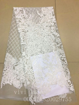 ab001-8 #5yards offwhite sequin embroidery new tulle mesh lace fabric for wedding dress/evening dress,ship by dhl