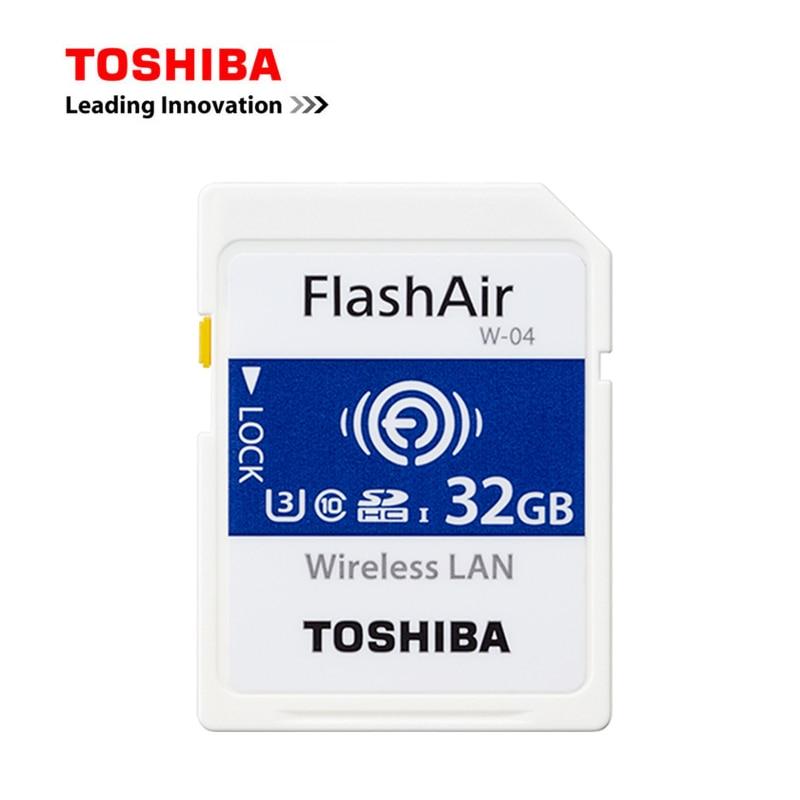 TOSHIBA WI-FI Memory Card 16GB 32GB 64GB WIFI FlashAir Class10 SD Card WIFI Download Photo Video To Phone For CANON NIKON Etc