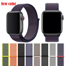BUMVOR NEW 40/44mm 38/42mm band for apple watch series 1/2/3/4 woven nylon strap iWatch colorful pattern classic buckle