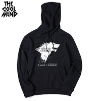 Big Size Cotton Blend Game Of Throne Mens Sweatshirt Fleece Casual Winter Is Coming Men Hoodies
