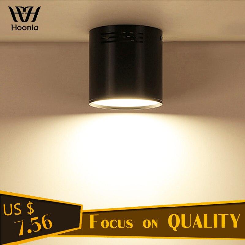 7W/9W/12W/18W Surface Mounted LED Downlight AC110V/220V LED Downlight SMD5730 Light Source Decorative Lighting Free Shipping цена