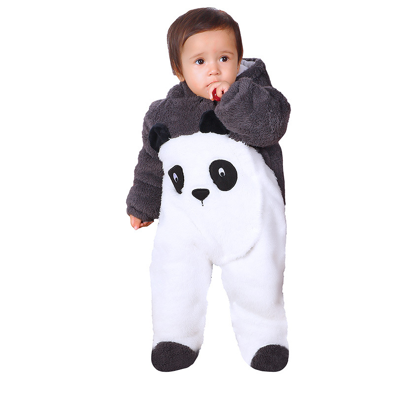 Winter Baby Rompers Overalls Clothes Jumpsuit Penguin Panda Newborn Girl Boy Duck Down Snowsuit Kids Infant Snow Wear Onepiece