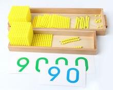 Новые детские игрушки Монтессори банк игровой набор математика