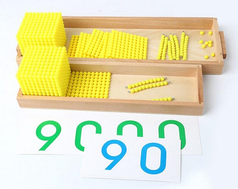 Nouveau Montessori bébé jouets banque jeu ensemble Maths bébé jouets éducatifs bébé cadeaux éducation préscolaire formation Maths