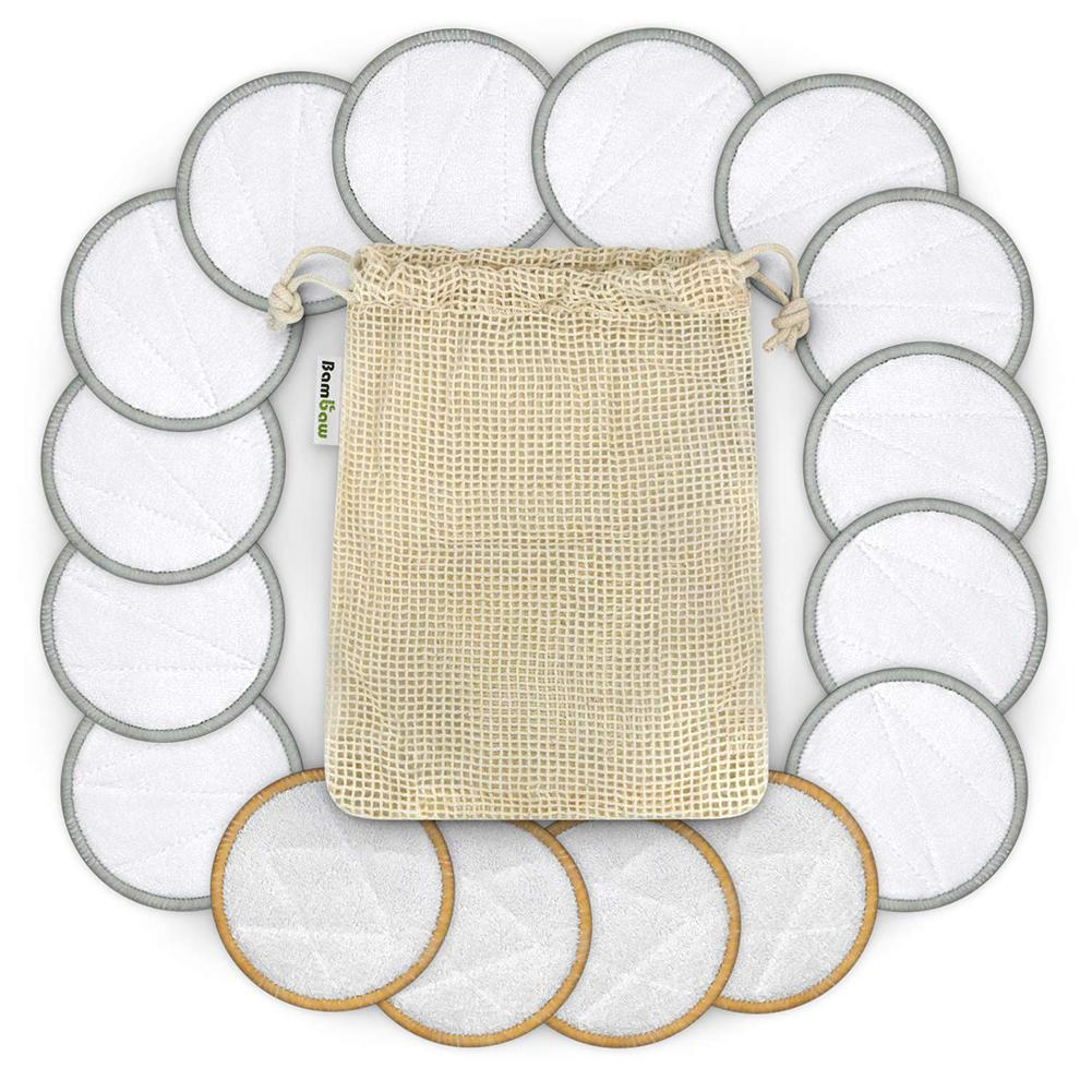 16pcs/set Cotton Rounds Reusable Chemical Free Cotton Pad Washable Makeup Remover Cotton Pad For Sensitive Skin Daily Cosmetics