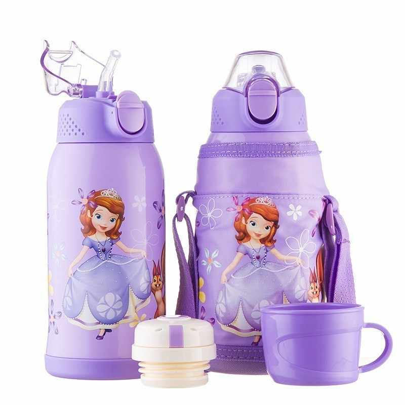 600 мл disney Детская кружка для кормления дети учатся для кормления питья бутылка детский термос стаканчик прочный Tazas Сиппи чашка в качестве подарка на день рождения