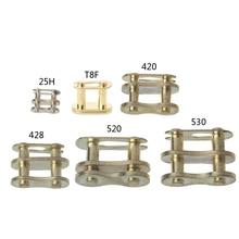 Цепь Мотоцикла пряжка кольцо звено 25H# T8F#420#428#520#530# золотой