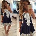 New 2016 Summer Dress High Quality Patchwork Women Dress Sexy Casual Lace Dress Palace Dress For Ropa Mujer Vestidos de festa