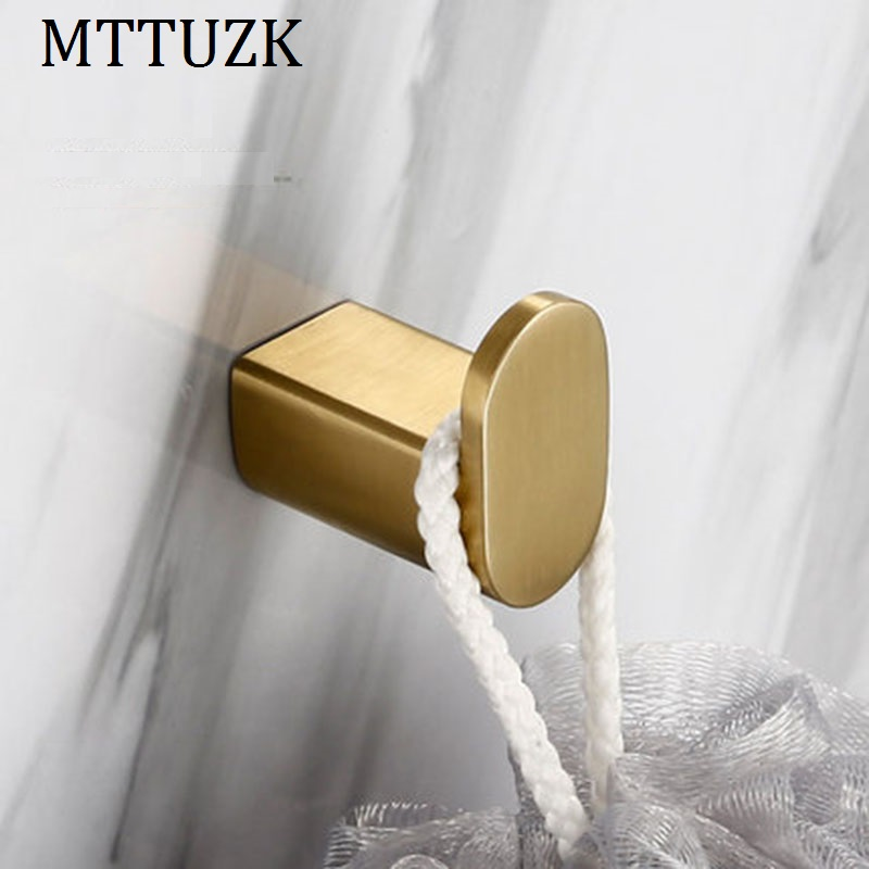 Mttuzk Brushed Gold Stainless Steel Towel & Coat & Robe Hook Bathroom Hooks Wall Mount Door Rear Hook For Cap,coat,clothes To Assure Years Of Trouble-Free Service Robe Hooks