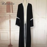 UNINICE Fashion Lace Maxi Long Abaya Dress for Women Long Sleeve Islamic Turkish Robe Musulmane Dress Muslim Dress Abaya Dubai