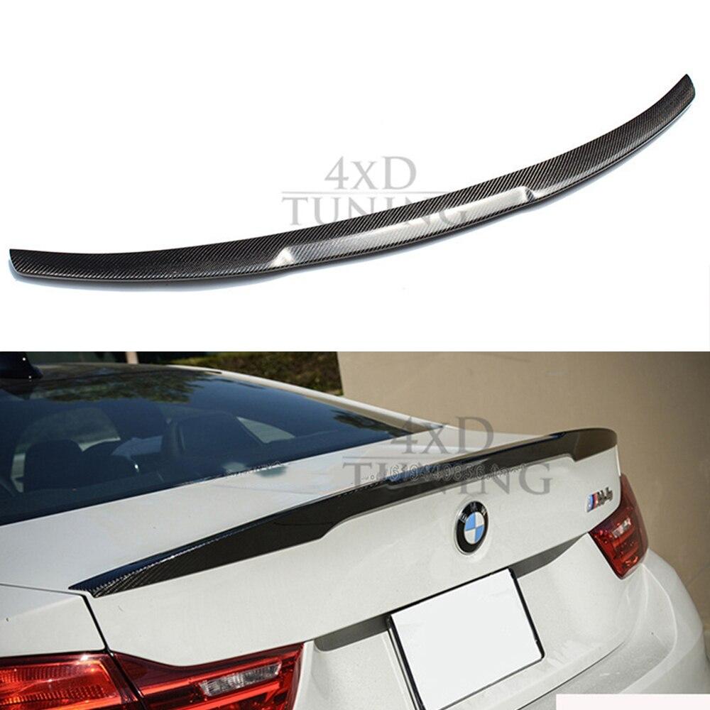 For BMW 4 Sereis F36 P Style& M4 Style Carbon Fiber Rear Spoiler Wing 420i 428i 435i 420d 435iM 4 Door Sedan 2014 2015 2016 2017 c74 style w204 carbon fiber rear wing spoiler for mercedes ben w204 c200 c250 c300 c350 c63 amg 4 door sedan only 2007 2013