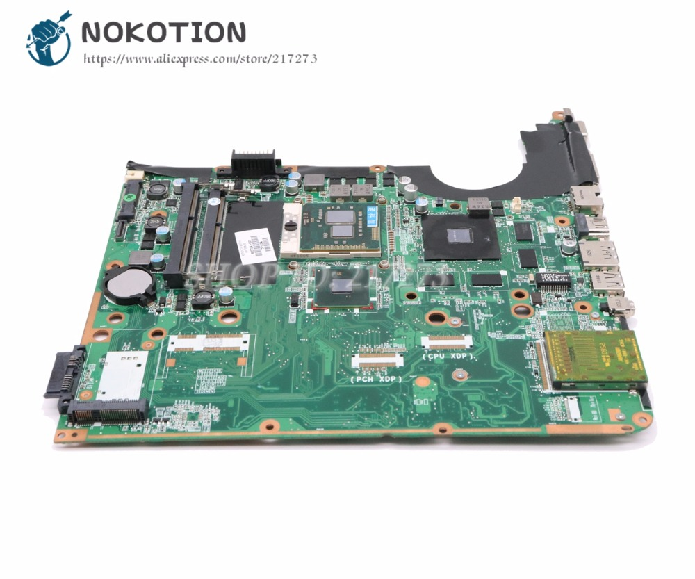 NOKOTION 605704-001 DA0UP6MB6F0 Main Board For HP Pavilion DV6 DV6T DV6-2000 Laptop Motherboard 1GB graphics Free CPU nokotion 578377 001 for hp pavilion dv6 dv6 1000 laptop motherboard pm45 ddr3 free cpu dsicrete graphics