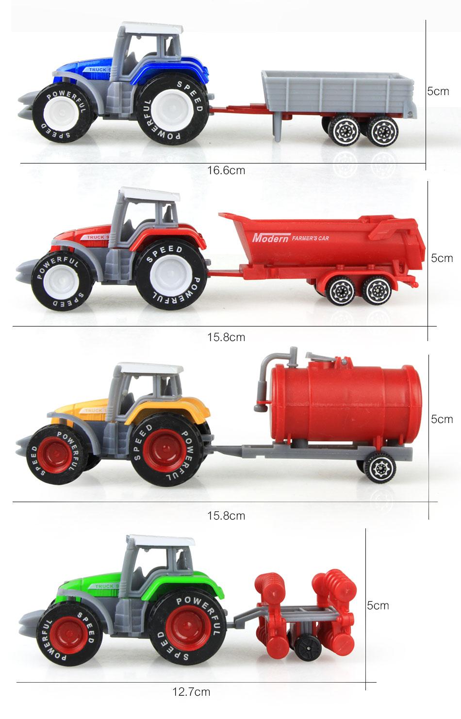 Литая под давлением сельскохозяйственная техника мини-модель автомобиля Инженерная модель автомобиля трактор инженерный автомобиль трактор игрушки модель для детей Рождественский подарок