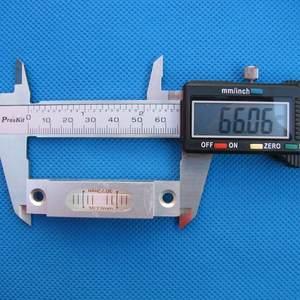 Image 3 - Haccury 크기 66*15*14mm 알루미늄 쉘은 장착 구멍이있는 총 스테이션 블리스 터 용 레벨 스피릿 레벨을 제출합니다.
