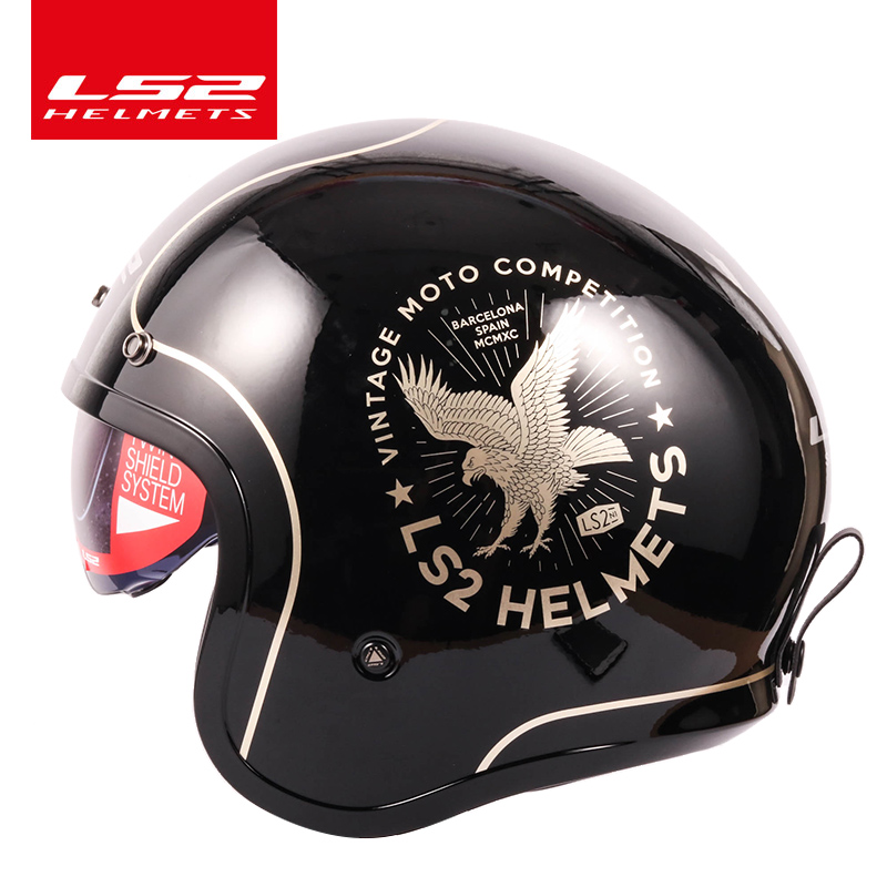 Certification Dot pour Hommes//Femmes Casque De Moto Vintage avec Visi/ère Int/érieure Casques R/étro Jet Open Motorbike Casque Crash pour Adultes