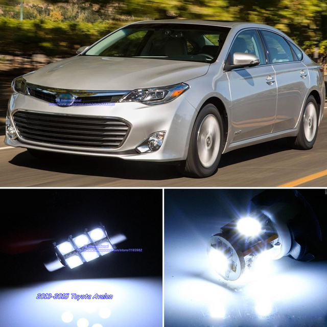 15pcs For Car LED Toyota Avalon 2013 2015 Interior Dome+Map+Door+
