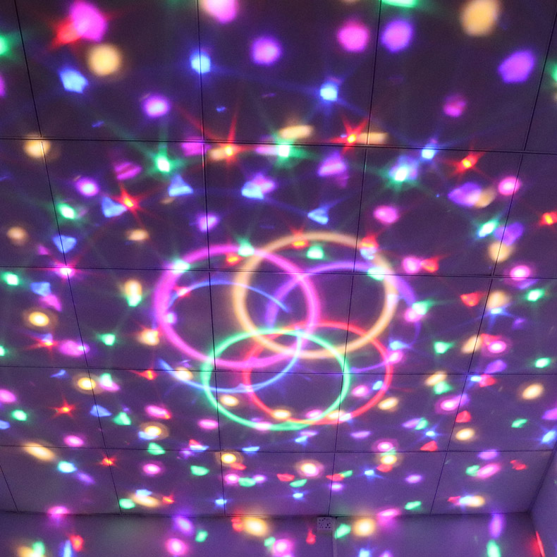Rbg Disco Ball Strobe Lamp 7 Modes Stage Par Light For Home Room Various Styles Sound Activated Party Lights With Remote Control Dj Lighting