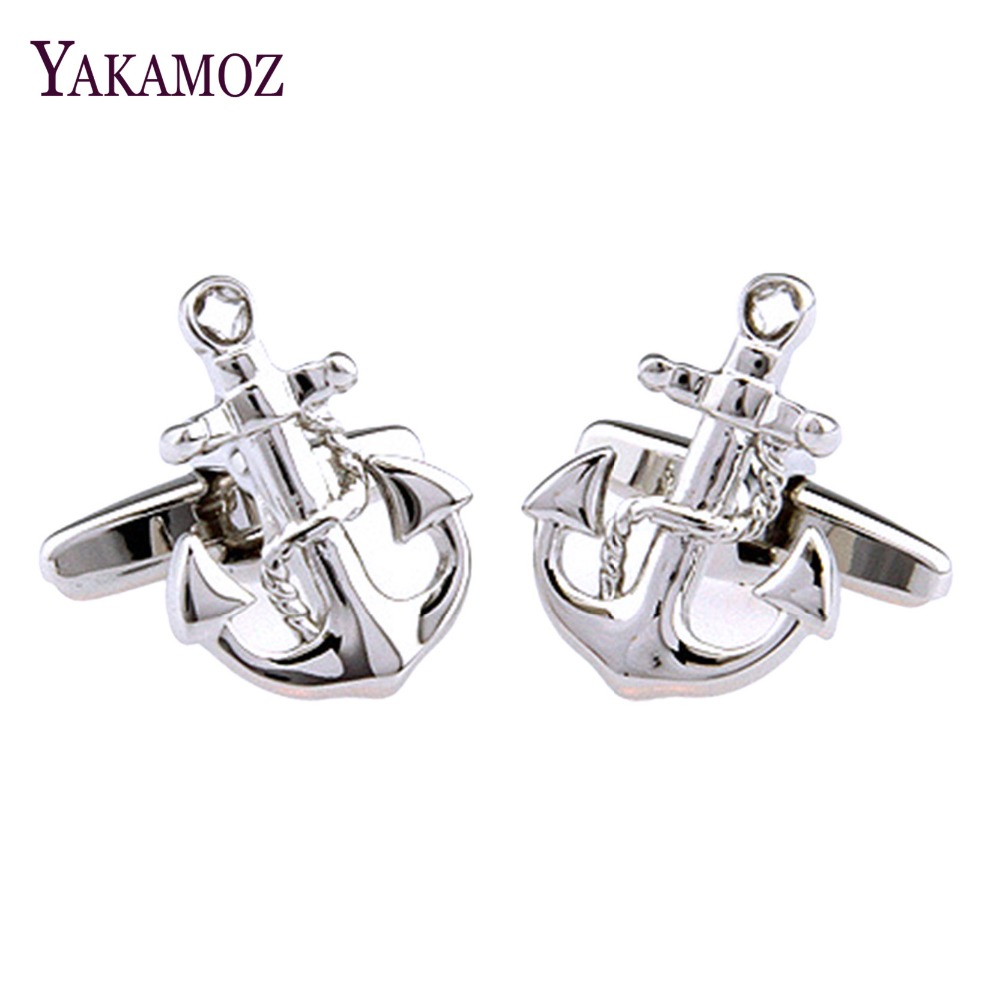 Anchor Cufflinks for Mens shirt cuff links Fashion cuff ...