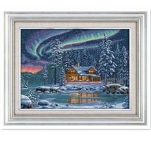 The Aurora Borealis Chinese Cross Stitch Patterns kits Counted Printed Canvas DMC Embroidery Set DIY Kit Dimensions Cross-stitch(China)