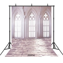White Palace Window Vinyl Photographic Background For Wedding Children Baby New Born Portrait  Backdrop Studio Shoot Photocall