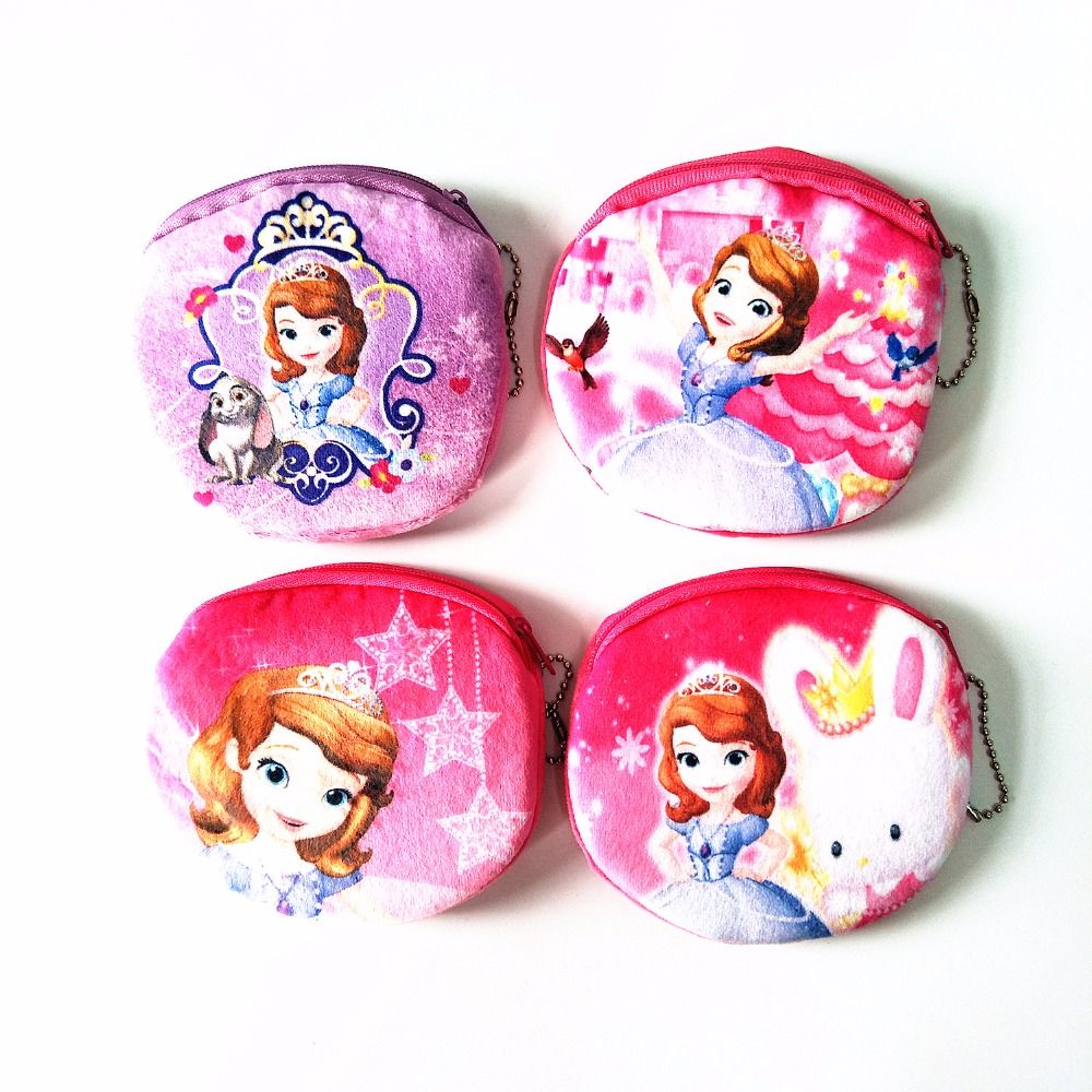 M118 Digital Printing Women purses Lovely Princess Plush Cartoon Creative Coin Bag Purse Cloth Girl Women Student Gift Wholesale