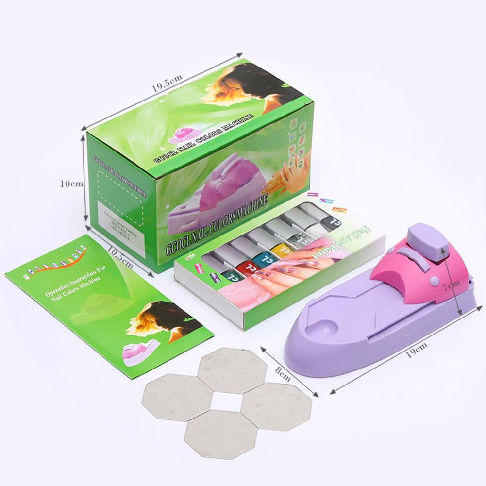 Nail Printer Set DIY Pattern Stamper Printing Machine Nail Art Tools For Stamping Colors Drawing TY99