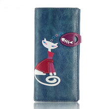 wallet Kitty fisher girl long coin purse Manual original cartoon women hasp wallet restoring ancient ways large capacity female
