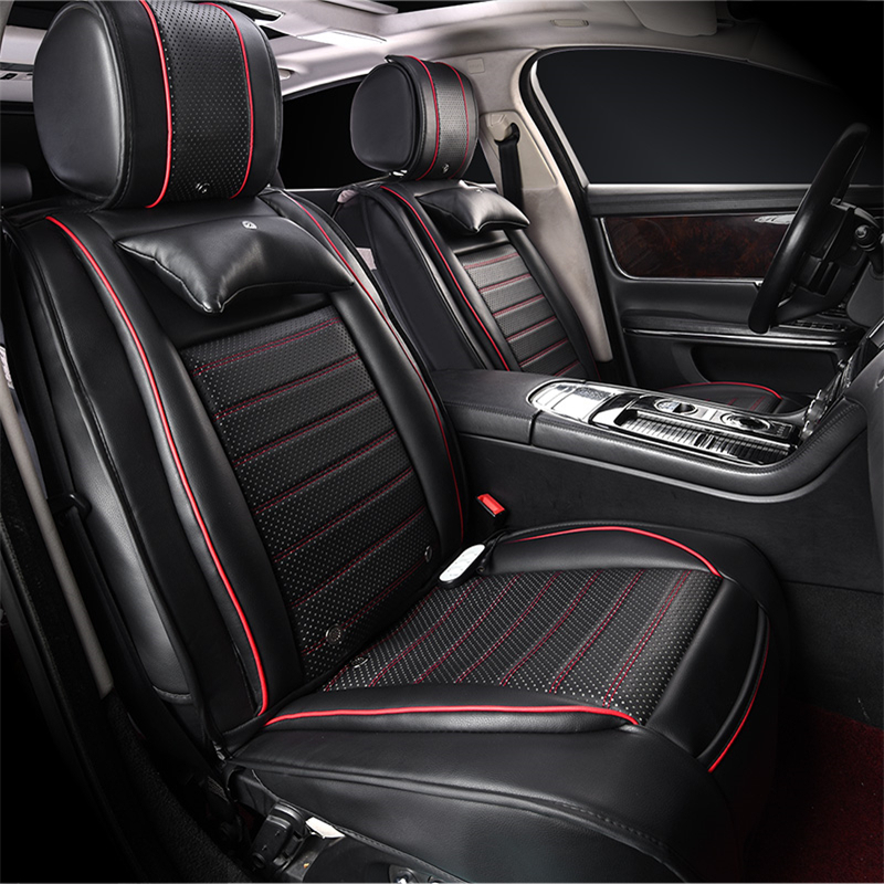 Massage Heat Perforated Leather Seat Covers For Subaru