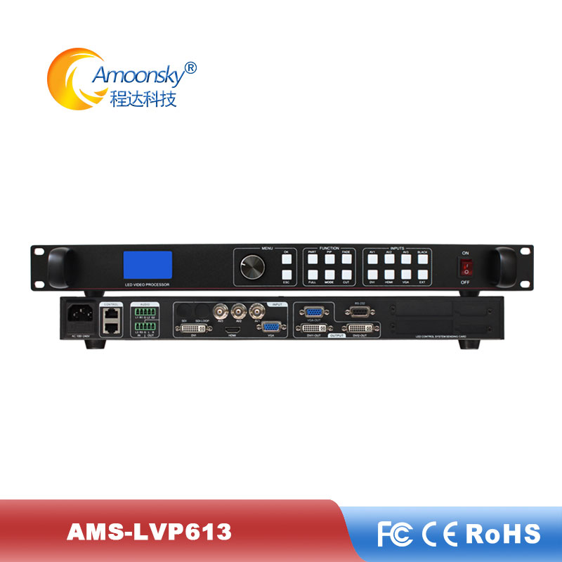 LED Video Processor AMS-LVP613 DVI VGA HDMI Composite Video Input Max Support Resolution 2304*1152 2560*816 With Audio Hot Sales