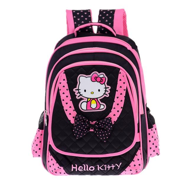 e4bd889d6a7 FZMBAI Cartoon School Bags for Girls Hello Kitty Breathable Princess Kids  Backpacks Satchel Primary Mochila Escolar