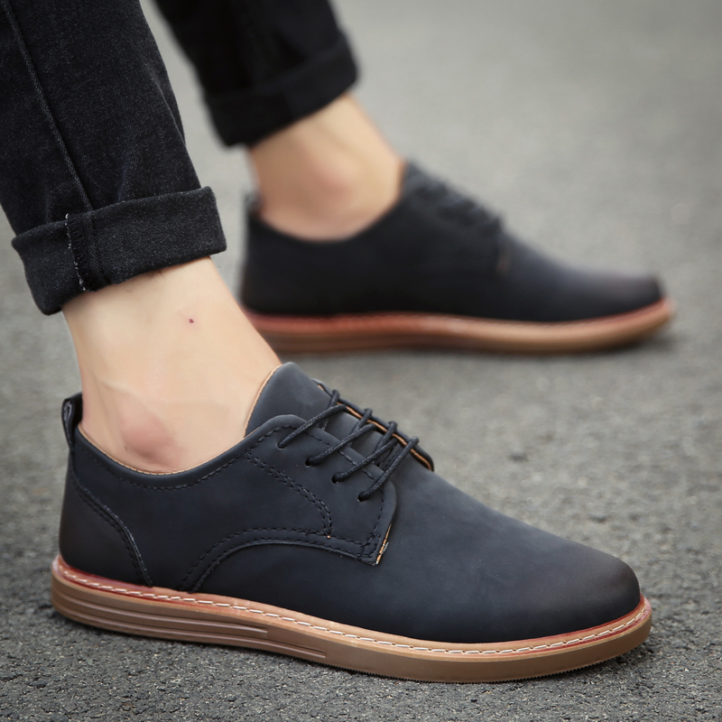 fashion leather casual shoes men comfortable leisure moccasins cheap dress male footwear work elegant boy oxford shoes for m (37)