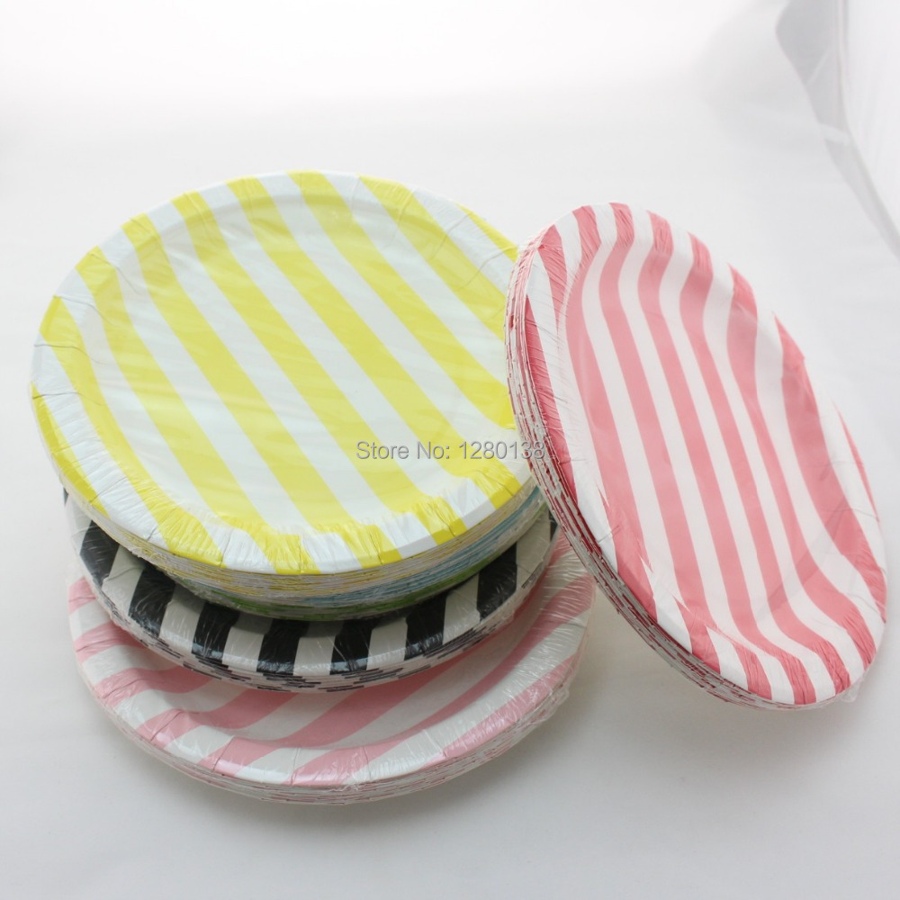 Diy weddings under 3000 - Aliexpress Com Buy 3000pcs Lot Chevron Striped Dot Party Plates Mixed Colors Wedding Xmas Festival Party Decor Diy Disposable Paper Plates From Reliable
