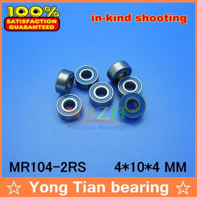 4x10x4 mm MR104-2RS 25 PCS Rubber Sealed Ball Bearing Bearings Blue 4*10*4