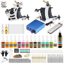 hot deal buy hybrid complete tattoo machine kit set power supply foot pedal needles 2 machine kit set tattoo body&art tk213